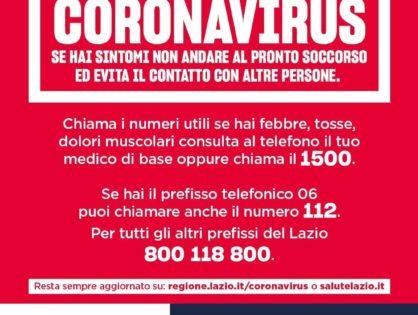 Ordinanza Regione Lazio 08/03/2020